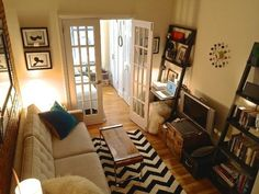 Tesha's Charming Character — Small Cool Contest   Apartment Therapy - LOVE this decor, layout, unit...