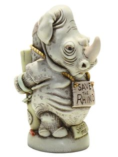 Harmony Kingdom Black Lot Rhinoceros Treasure Jest