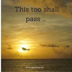 A Minute For Moms – This Too Shall Pass