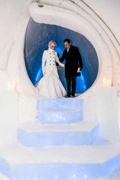 Wedding at the Snowhotel in Rovaniemi in Lapland