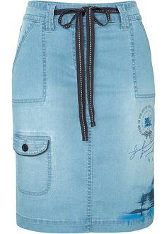 £: 2016/17 Gonna di jeans con stampa Blu bleached - John Baner JEANSWEAR è ordinabile nello shop on-line di bonprix.it da ? 29,99. Con cintura da annodare, tasche ...