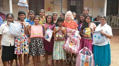 Kerrie Huxham from the Iluka Woombah Rotary #DfG's Team delivering 40 kits to the staff and girls of an orphanage in Sri Lanka!