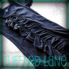 Ruffled Lane shirt tutorial, long sleeve recon