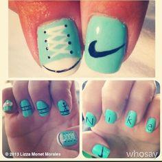Custom #Nike and #TiffanyAndCo #WeRunSF Nails in preparation for my FIRST marathon last weekend