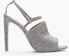 Alexander Wang ~ Grey Wool Slingback Maryna Sandals