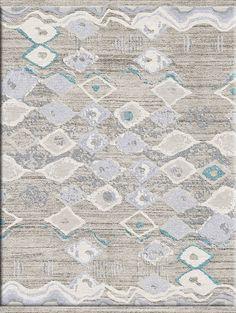 Amazing rug designed by TammyKanat -  Diamonds in Seafoam