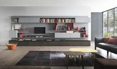 Expansive custm crafted living room wall unit