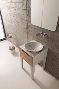 MIZU Mobile lavabo by Scarabeo Ceramiche design Emo Design