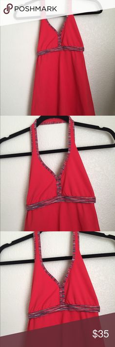 Lululemon Hip halter No flaws. Color is space dye coral. lululemon athletica Tops Tank Tops