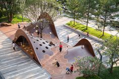 Landscape Plaza, Landscape And Urbanism, Landscape Architecture Design, Urban Landscape, Landscape Drawings, Parametric Architecture, Playground Design, Outdoor Playground, Urban Furniture