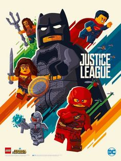 Justice League in LEGO style; made by Tom Whalen. Lego Justice League, Justice League Poster, Batman Vs, Batman Lego, Spiderman, Tom Whalen, Lego Dc Comics, Arte Dc Comics, Marvel Dc