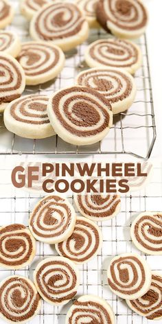 These classic gluten free pinwheel cookies have a place on every holiday cookie plate. If you've wanted to give them a try but had trouble imagining how, this quick how-to video is just the thing! Gluten Free Deserts, Gluten Free Cookie Recipes, Gluten Free Treats, Gluten Free Baking, Paleo Baking, Baking Recipes, Cookies Sans Gluten, Dessert Sans Gluten, Paleo Dessert