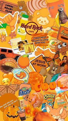 aesthetic Orange phone wallpaper - Google Search   Pretty wallpaper iphone, Orange aesthetic, Aesthetic iphone wallpaper