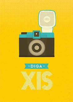Poster Diga Xis Travel Album, Toy Camera, Scrapbook, Instagram Story Ideas, Vintage Posters, Illustrations Posters, Pop Art, Retro Vintage, Print Patterns