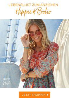 Naturmode von Deerberg - Anziehen & Wohlfühlen Hippie Boho, Ärmelloser Mantel, Dresses With Sleeves, Long Sleeve, Tops, Fashion, Sustainable Clothes, Linen Fabric, Dressing Up