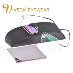 a019adec1d Ivsta With Original Case Titanium Glasses Men Frame Titanium Eyeglasses  Rimless Optical Frame Women 1050 Brand Logo Prescription