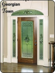 Formal traditional glass door insert for single or double doors