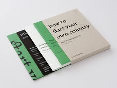 "Book Design for Erwin S. Strauss ""How To Start Your Own Country"" by Wang Zhi Hong"
