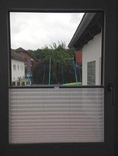 sensuna® Sischtschutz Plissee am Fenster