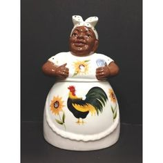 Black American Aunt Jemima Cookie Jar