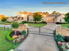 Fabulous Gated Estate in Westlake, TX #luxury #homes #house #front #yard #design #home #architecture