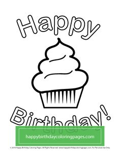 FREE Cupcake coloring page – Happy Birthday Coloring Pages Cupcake Coloring Pages, Happy Birthday Coloring Pages, Turtle Coloring Pages, Fall Coloring Pages, Dog Coloring Page, Pokemon Coloring Pages, Cartoon Coloring Pages, Christmas Coloring Pages, Animal Coloring Pages