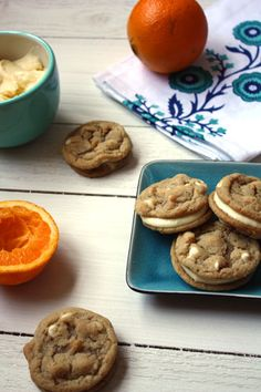 Orange creamsicle cookies. Amazing for summer! (She Makes and Bakes)