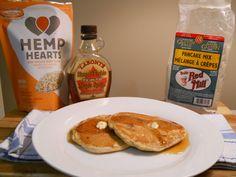 Raspberry and Hemp Heart pancakes! Gluten and Dairy Free