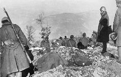 Trench construction of the Elaia-Kalamas line in Northern Greece by Greek soldiers in preparation for the Italian attack; March, 1939.