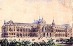 Historical Designs / Utopias / Monuments - Never built - Page 32 - SkyscraperCity Monumental Architecture, Neoclassical Architecture, Baroque Architecture, Classic Architecture, Commercial Architecture, Architecture Drawings, Historical Architecture, Residential Architecture, Amazing Architecture