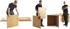 Slot Furniture: no screws, no glue, just slots, just design
