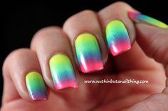 neon nail art - Google Search