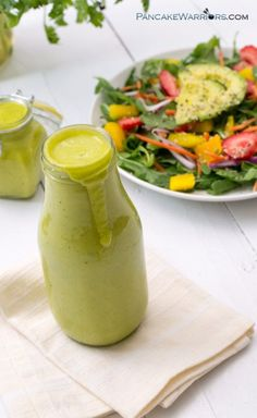 Enjoy your summer salad with this mango lime vinaigrette today! Simple to make…