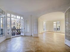 19th century apartment in Paris. That floor and that light are gorgeous.