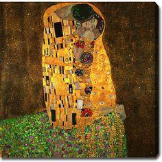 YGC Gustav Klimt 'The Kiss' Oil on Art
