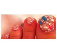 Decoden, 3d, deco, pearls, rhinestones, heart, bow, bling, glitter nails, nail art.