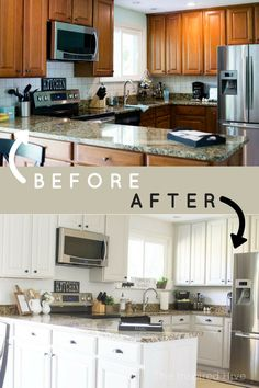 white kitchen remodel the big reveal cabinet refinishing rh pinterest com