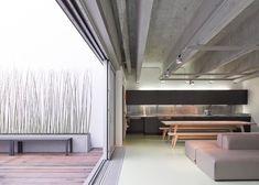 Concrete-clad dance studio designed to reference Brutalism.