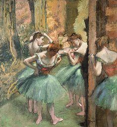 Dancers, Pink and Green; Edgar Degas.