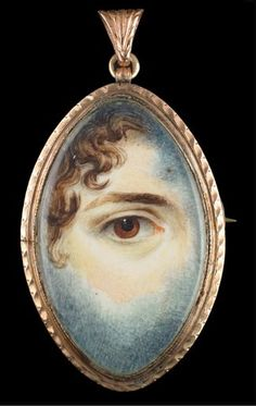lover`s eye miniature pendant. 19th century (first half of the 19th century)