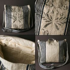 french grain sack purses