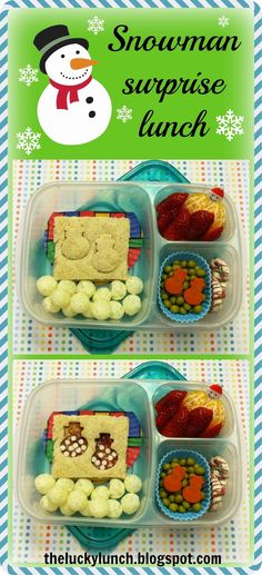 The Lucky Lunchbox: Snowman surprise lunch...