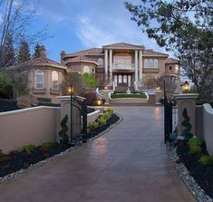 Hubby always wanted a sprawling driveway. Luxury home in CA