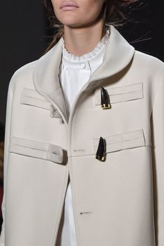 Chic Style - elegant toggle coat; fashion details // Derek Lam Fall 2016