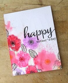 Occasional Crafting: An Early Mother's Day Card... #winniewalter