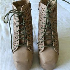 Beige booties Booties 5 inch heel in beige Shoes Ankle Boots & Booties