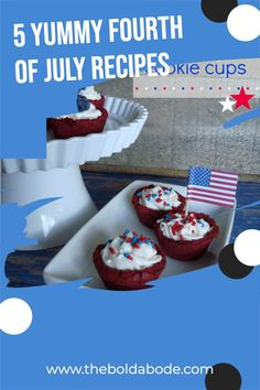 Make this year's Fourth of July a super fun celebration! Add some yum to your July 4th menu this year with these 5 great ideas! Fourth Of July Food, July 4th, Recipe Ideas, Great Recipes, Recipes For Beginners, Learn To Cook, Celebration, Good Food, Easy Meals