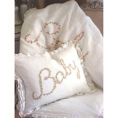 Embroidered Baby Linen Crib Duvet 2
