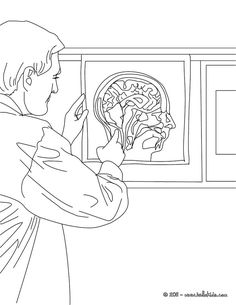 Radiologist Coloring Page Amazing Way For Kids To Discover Doctor Job More Original Content