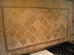 travertine tile backsplash | Backsplash design ideas